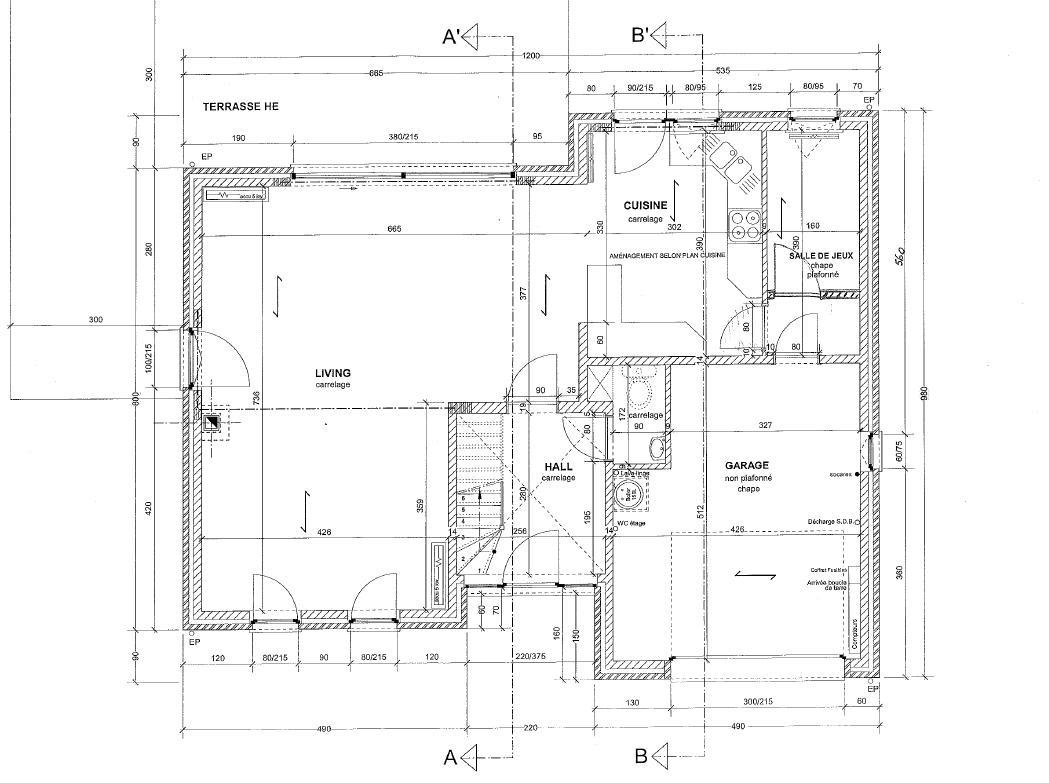 Les plans - Plan maison avec cotation ...